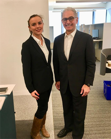Camille Dubois and Mark Hoplamazian (CEO)
